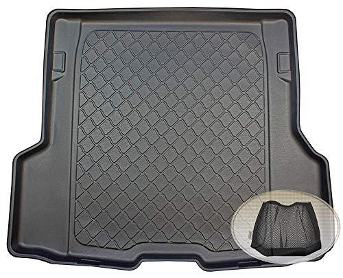 ZentimeX Z3113417 Gummierte Kofferraumwanne fahrzeugspezifisch + Klett-Organizer (Laderaumwanne, Kofferraummatte)