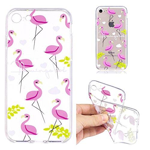 inShang iPhone 6 (6s) 4.7inch custodia cover del cellulare, Anti Slip, ultra sottile e leggero, custodia morbido realizzata in materiale del TPU, frosted shell , conveniente cell phone case per iPhone Flamingo