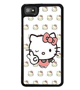 printtech Cute Cat Back Case Cover for BlackBerry Z10