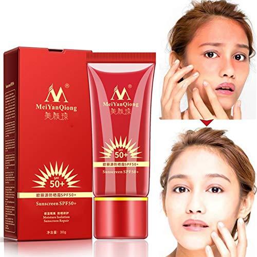 Allbestaye Sonnenschutzcreme SPF50+ SUN Sonnencreme fürs Gesicht Körper Anti-Age und Anti-Pigmentflecken Lichtschutzfaktor 50+ -