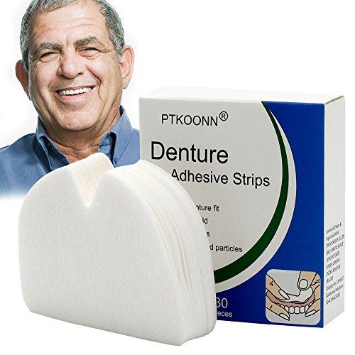 Denture Adhesive Strips,Denture Adhesive,Denture Bonding,Uppers Denture Adhesive,Snug Gebiss-Haftkissen,verbessertes und weicheres Design,30 Stück