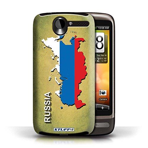 Kobalt® Imprimé Etui / Coque pour HTC Desire G7 / Argentine conception / Série Drapeau Pays Russie/Russe
