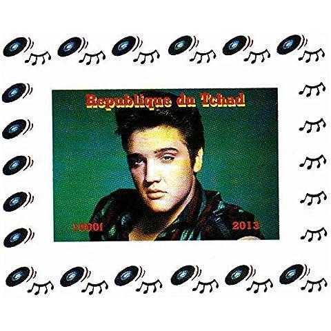 Coleccionables Elvis Presley - Elvis Presley Imperforated miniatura sello sheetlet celebrando su vida y su música - 2013 / Chad / 1000F