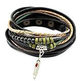 axy TWIC13 TIBET WICKELARMBAND SERIE 13! ECHT LEDER Armband Leather Bracelet!Surferarmband Schmuck (Modell 3)
