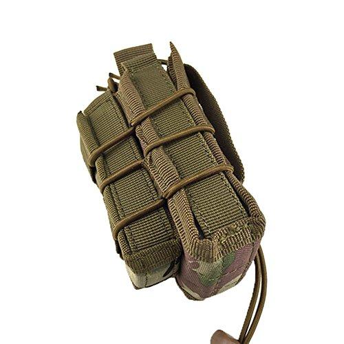Wongfon Molle Gürteltasche Taktisches Paket Outdoor Durable Gürteltasche MOLLE Beutel Militär Ideal für Outdoorsport Multifunktionen Praktische Ausrüstung Braun