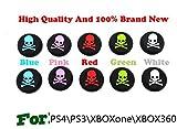 Ps4 Console Bundle Best Deals - Dix de Bouchons Capuchons de Joystick Thumbstick en Plastique pour Manette PlayStation 4 PS4 PS2, PS3, PS4, Xbox 360, XboxOne (crâne 10pcs)