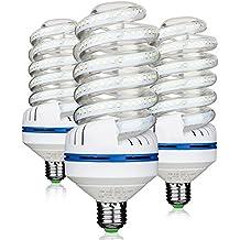 Bro. Luz Bombillas LED, intensidad no regulable 30 W (equivalente a 250watt), 6000 K (luz blanca) bombillas de luz de inundación, tamaño mediano Base de tornillo (E27), 360 Degree Ángulo de haz, bombillas LED de 3000 lumens 30.00 watts