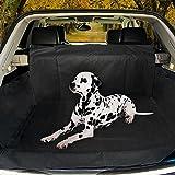 Hundedecke Auto, Poppypet Auto Hundedecke, Autoschondecke mit Seitenschutz, Wasserfestes, Hochwertiges Material Schützt Ihre Auto-Kofferraum vor Schmutz und Tierhaaren 155*104*33cm - Schwarz
