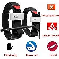 COUTUDI Tourniquet/CAT Klon/Einstellbar Paracord Survival Armband, Survival-Kits/Überlebens Bracelet/Outdoor Gear für Camping Wandern Klettern, Paracord + Kompass + Pfeife + Feuerstein + Messer(2PCS)