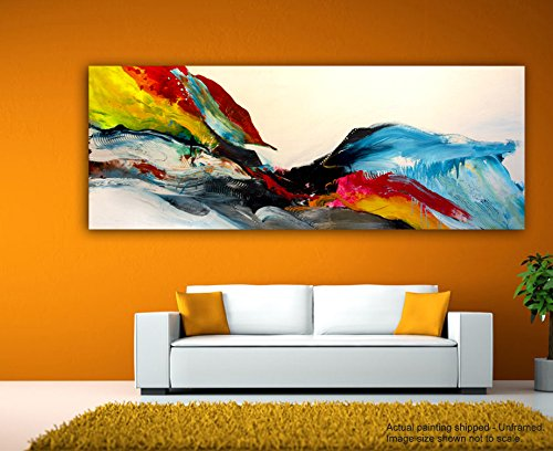 JunkYard Canvas Painting - Big Splash - Abstract Art - Modern Art  available at amazon for Rs.348