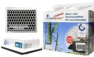 Carbon-filtre particules fines pour imprimante laser, fax et photocopieuses, druckerfilter filtre également l'ozone