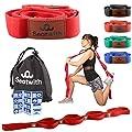 Seatwith Gymnastik-Gurt mit 10 Schlaufen | Yoga-Gurt 200 x 4 cm | Stretch-Strap für mehr Beweglichkeit | Gratis Transportbeutel & Traininsanleitung| Fitness Pilates Physiotherapie Stretch-Gurt