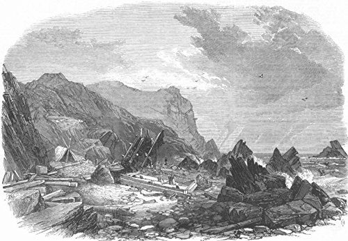 cornwall-wreck-of-avonmore-cornish-coast-1869-old-antique-vintage-print-engraving-art-picture-prints
