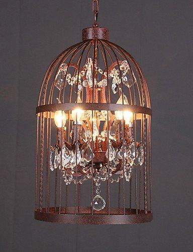 Illuminazione jiaily Loft Amercian retrò cristallo industriale Birdcage Ciondolo lampada