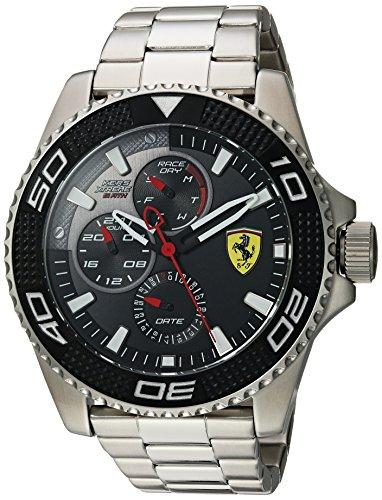 Ferrari, orologio da uomo 'kers xtreme' al quarzo, in acciaio inox, stile casual, colore: argento (modello: 0830470)