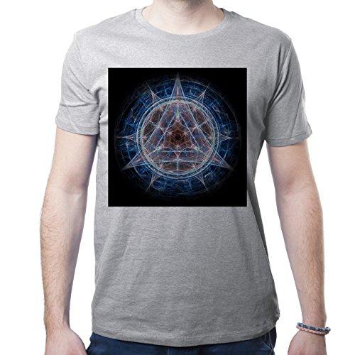 Illuminati Triangle Art Majestic Net For triangle Herren T-Shirt Grau