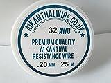 Résistance de type Kanthal A1fil–(32awg) 0,20mm–Bobine de 25m–46.2ohms/M