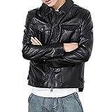 CICIYONER Herren Winterjacke,Hochwertiges Kunstleder Lederjacke Parka/Mantel mit Fell warme Mens Jacket gefüttert übergangsjacke für Jugendliche und Erwachsene M-5XL