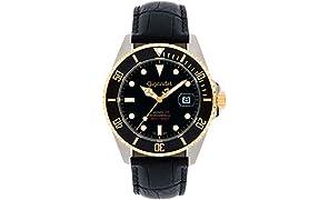 Gigandet G2–018–Orologio da uomo, cinturino in pelle colore nero