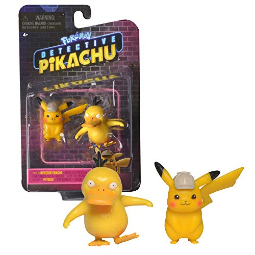 Pokémon Detective Pikachu and Psyduck Mini Figure 2-Pack, Official Movie 2019 Figures, Catch em' All!