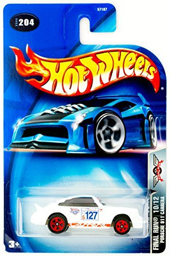 Hot Wheels 2003 Final Run Porsche 911 Carrera 10/12 WHITE #204 1:64 Scale