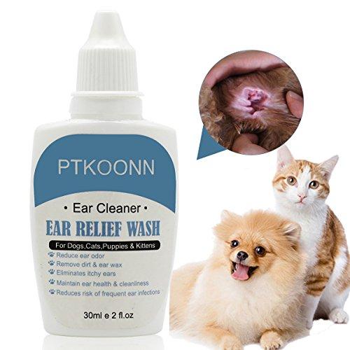 Hund Ohrreiniger,Ohrenreiniger Katzen,Ohrreiniger für Haustiere,Ohrenreiniger für Hunde und Katzen, Schonende Pflege und Reinigung,Eliminieren Sie Gerüche, Juckreiz und Ohrenschmalz
