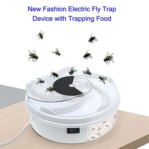 ASOSMOS Automatisches Elektrisches Fliegenfänger Fliegenfallen Fliege Fanggerät mit Köder Nahrungsmittel und USB-Kabel Insektenabwehr Insektenfalle Mücke Moskito Wanzen für Zuhause Küche Restaurant (3 Stücke)