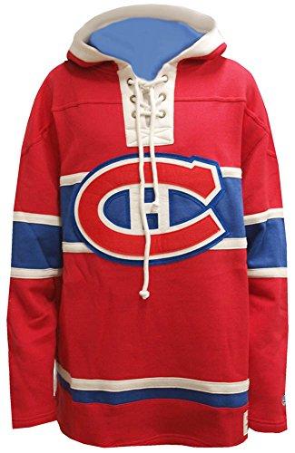 3c292c6db Old Time Hockey NHL Montreal Canadiens Lacer Fleece Hoody Hoodie Sweater  Mens