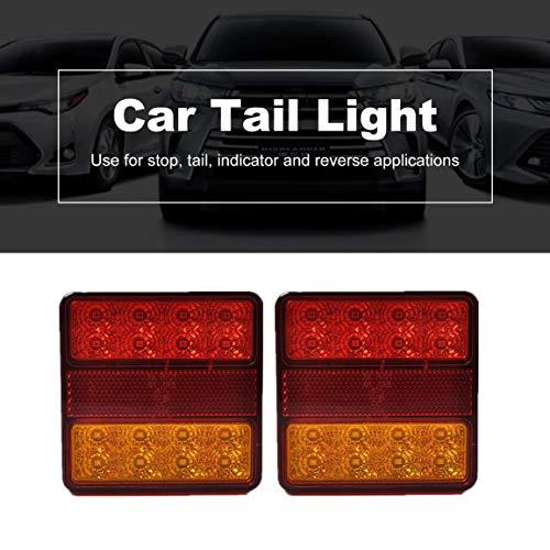 1 Paar Wasserdichte IP65 22 Auto LED Rücklicht Rückleuchten Paar Bootsanhänger 12 V Hinten Teile für Anhänger Lkw Auto Beleuchtung (Farbe: Rot)