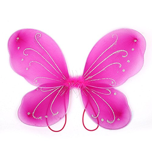 Butterfly wings, adult dress up elf fairy wing dress up bella adulto 42 * 31cm halloween girls rose red