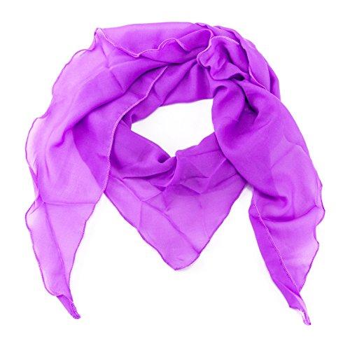 ManuMar Dreiecks-Schal für Damen   feines Hals-Tuch mit Unifarben als perfektes Sommer-Accessoire   Dreiecks-Tuch in lila - Das ideale Geschenk für Frauen