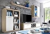 AVANTI TRENDSTORE MERO - Mobile soggiorno in imitazione di quercia Sonoma chiaro/bianco, ca. 270/200/40 cm
