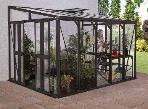 Vitavia Anlehngewächshaus Helena aus Alu/Glas anthrazit Helena 11900