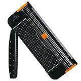 Tiptiper Papierschneider Schneidemaschine A4 Tragbar Schneidegerät mit Fingerschutz und Gleitlineal Design Schneidet bis zu 12 Blattes (70g/sm)