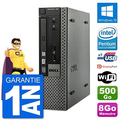 Dell Ultra Mini PC Optiplex 790 USFF G640 RAM 8 GB Festplatte 500 GB Windows 10 WiFi (überholt)