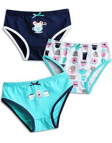 Vaenait Baby Kleinkind Kinder Madchen Unterwasche Slips 3-Pack Set Teatime S
