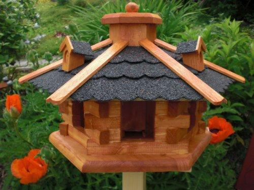 Vogelhaus-Gaube-Bitumendach-V058-mit-wetterfestem-Anstrich-Vogelhuser-Vogelfutterhaus-Vogelhuschen-aus-Holz-Schreinerarbeit