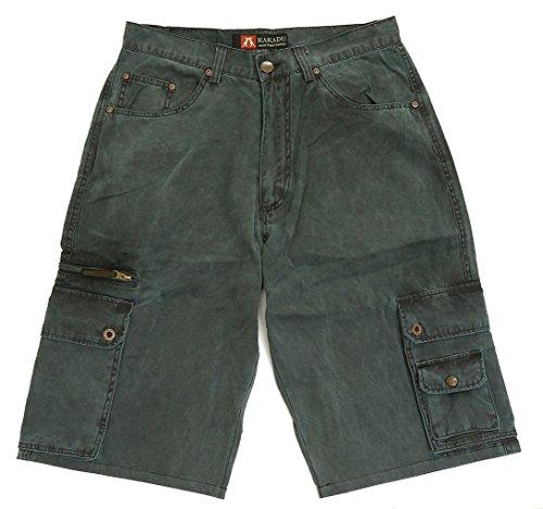 Kakadu Traders Herren Cargo Shorts Blau 36 -