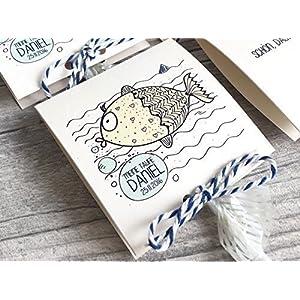 Gastgeschenk zur Taufe Fish Personalisiert inkl. Lollies