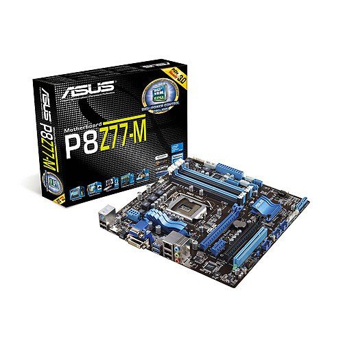 Asus P8Z77-M Mainboard Sockel 1155 (Micro-ATX, Intel Z77 Express, 4X DDR3 Speicher, 2X SATA III, 4X USB 3.0) -