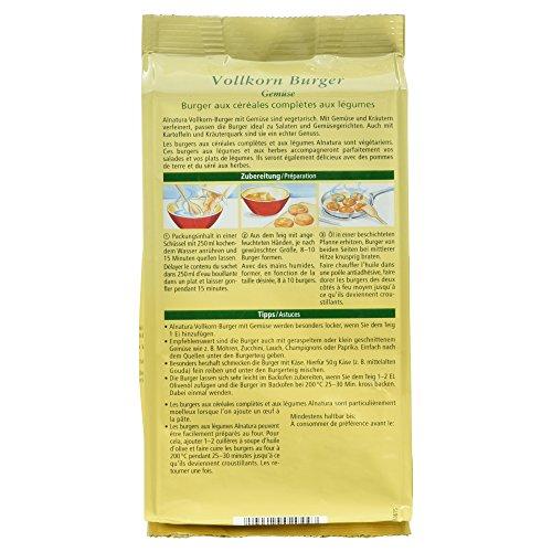 Alnatura Bio Vollkorn-Burger Gemüse, 5er Pack (5 x 210 g) - 5