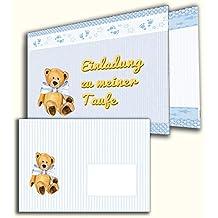 Einladungkarten Zur Taufe 12 Stück Mit Briefumschlägen Einladung