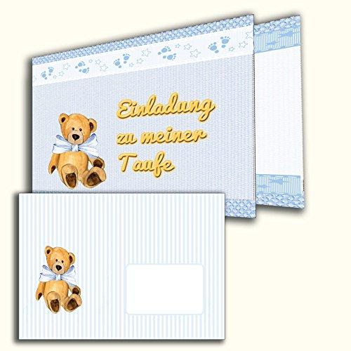 Einladungkarten zur Taufe 10 Stück mit Briefumschlägen Einladung