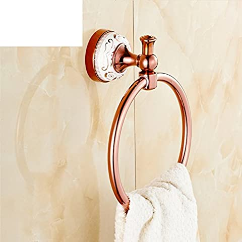 Continental towel ring/All copper bold ring/Small towel rack/Round towel hook