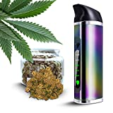 Portable Weed Vaporizer Set for Herbs with Ceramic Chamber and OLED Display, No Nicotine No liquid (Regenbogen)