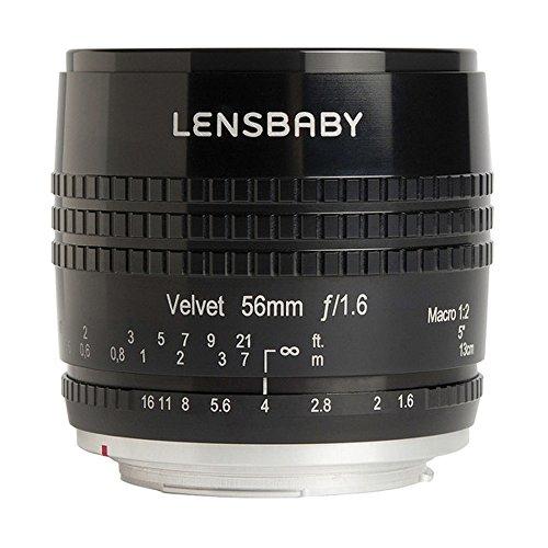 Lensbaby Velvet 56 Objektiv (56 mm Festbrennweite, kein Filtergewinde) für Nikon F schwarz (85 Festbrennweite Nikon)