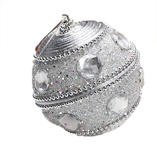 ODJOY-FAN Hochgradige Weihnachtskugeln Weihnachten Strass Funkeln Kugeln Bälle Weihnachtenbaum Ornament Dekoration Ball 8CM(E-1,1 PC) -