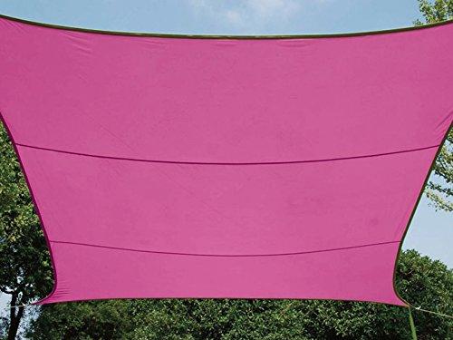 Perel GSS4320FU Sonnensegel - Rechteckig, Fuchsia, 200 x 300 x 0,2 cm