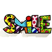 ROMERO BRITTO Word Art - SMILE - Pop Art Kunst aus Miami