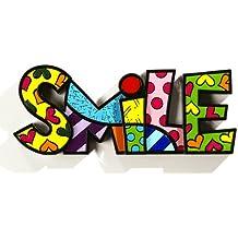 ROMERO BRITTO Word Art - SMILE - Pop Art Kunst aus Miami